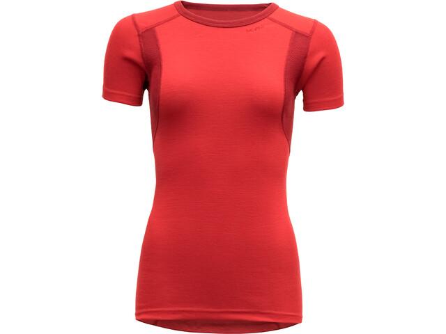 Devold Hiking T-Shirt Dames, chilli